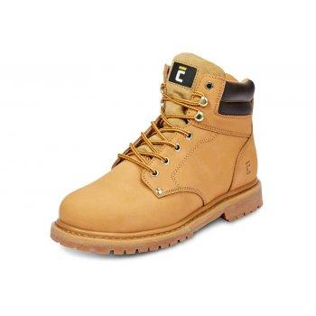 49a4eb87 BLACK KNIGHT HONEY ANKLE - skórzane buty robocze trzewiki żółte , czarne -