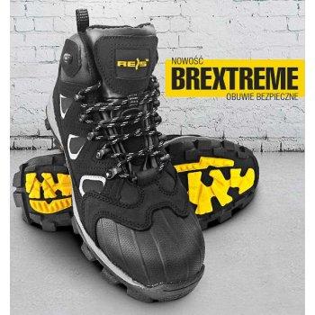 84a7bafe2a093 BREXTREME S3 SRC - nubukowe buty robocze typu trzewik, wzmocnie na czubku,  odblaski z