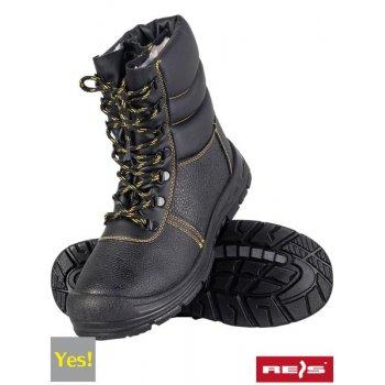 45cbf4f0 BRYES-TWO-OB - skórzane buty robocze typu kozak ocieplane kożuszkiem - 39-