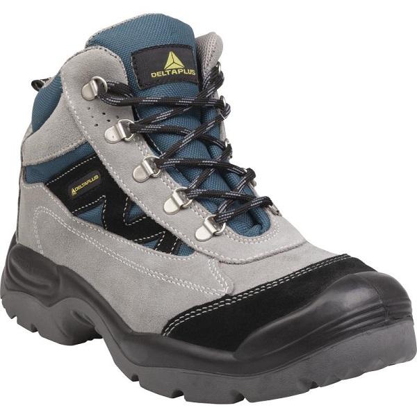 828ae64eb2b9c CAROMB S1P SRC - skórzane welurowe buty robocze typu trzewik ze stalowym  podnosekiem - 39-