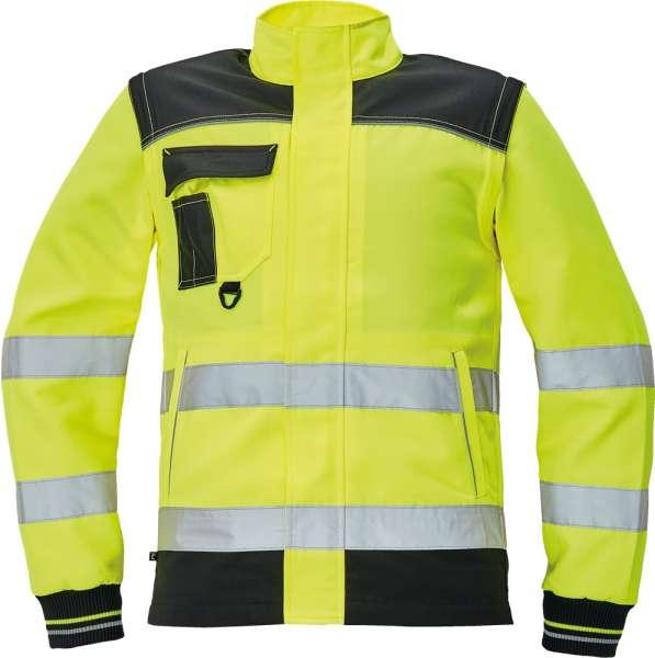 5cfa5053904e9 ... KNOXFIELD HI-VIS kurtka - męska, pikowana kurtka ze stójką z materiału  hi- ...
