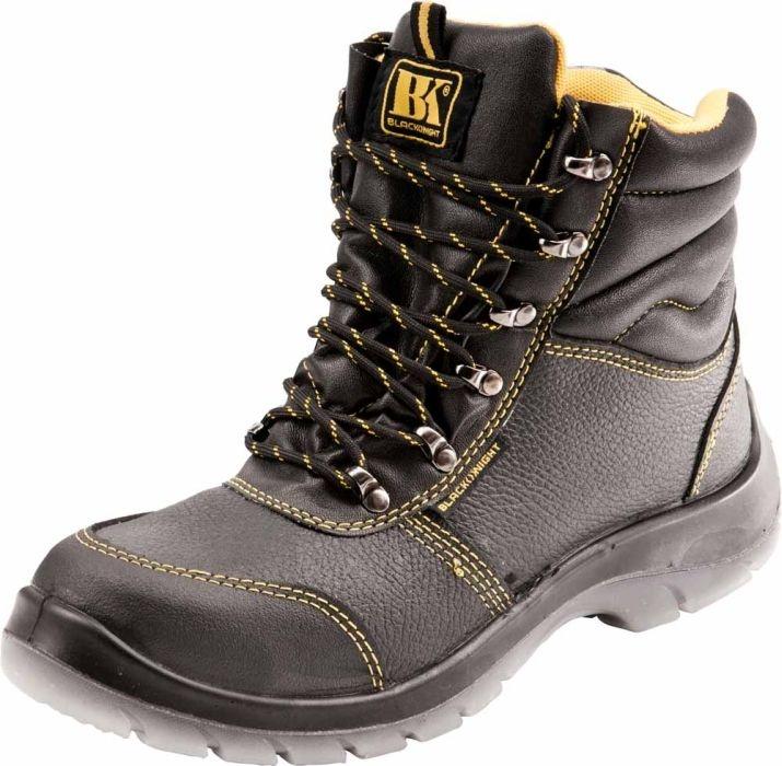 dfa583c6 BLACK KNIGHT WINTER S3 CI - ocieplone skórzane buty robocze typu trzewik ze stalowym  podnoskiem -