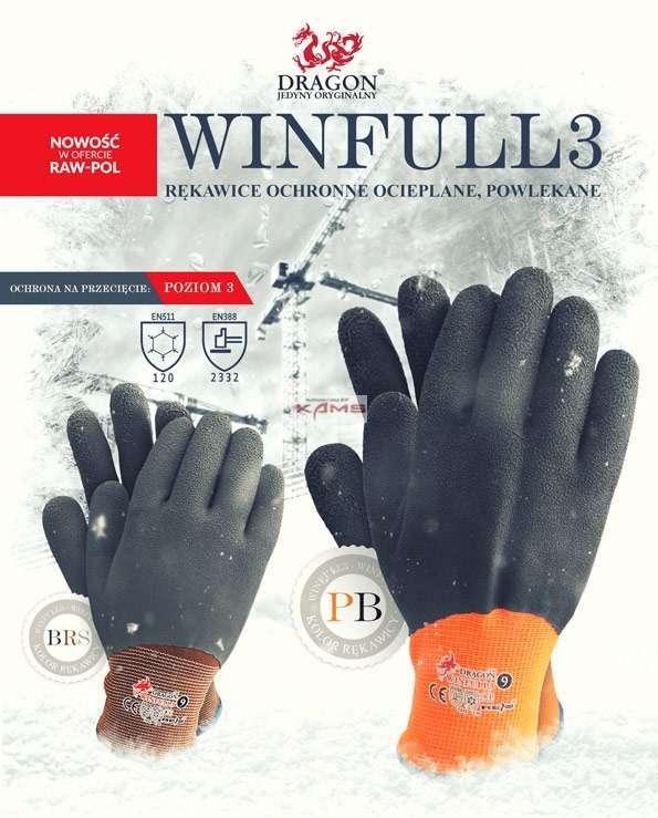 dba587bbce2279 ... WINFULL3 - Rękawice ochronne ocieplane, powlekane 2 kolory - 7, 8, 9,